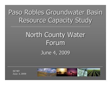 Paso Robles Groundwater Basin Resource Capacity Study North County ...