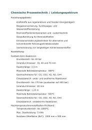 Chemische Prozesstechnik / Leistungsspektrum