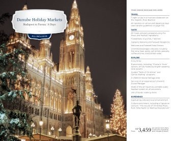 Danube Holiday Markets - Uniworld Boutique River Cruises