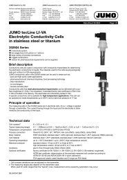 JUMO tecLine Lf-VA Electrolytic Conductivity Cells in stainless steel ...
