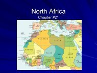 North Africa Chapter #21