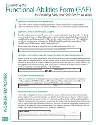 Guide to Completing the Functional Abilities Form - wsib