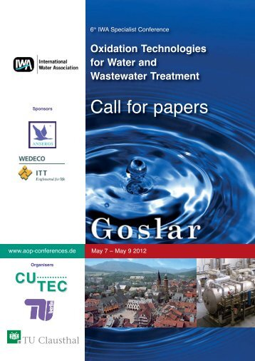 Oxidation Technologies for Water and ... - AOP-Conferences