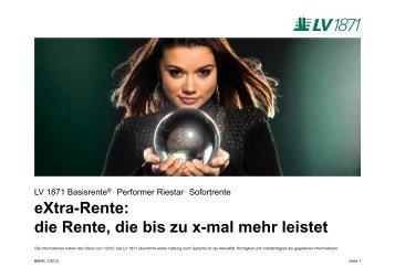 eXtra-Rente - Lebensversicherung von 1871 a.G.