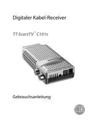 Bedienungsanleitung - TechnoTrend Görler TechnoTrend Görler