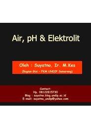 Air-pH-elektrolit - Suyatno, Ir., MKes - Undip