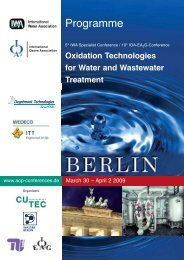 Oxidation Technologies for Water and Wastewater Treatment
