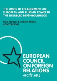 euroPeAN ANd russiAN PoWer iN The TroubLed Neighbourhood
