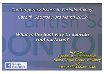 Phil Ower- Debridement BSP 2012