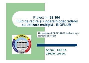 fluid de racire si ungere biodegradabil cu