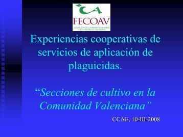 secciones de cultivo en la comunidad valenciana - Cooperativas ...