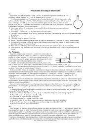 Exercices de statique des fluides h