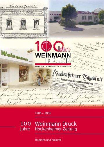 Weinmann Druck - Weinmann GmbH