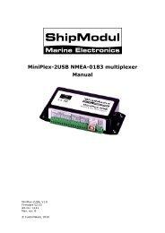 MiniPlex-2USB NMEA-0183 multiplexer Manual - Seatech