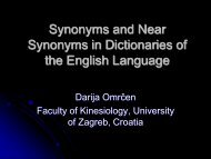 Synonyms and Near Synonyms in Dictionaries of the English ...