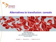 Strengers2013- IHS 1 - International Haemovigilance Network