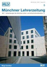 MLZ-Ausgabe Nr. 5 - 2010 - MLLV - Bayerischer Lehrer