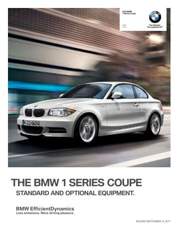 THE BMW 1 SERIES COUPE