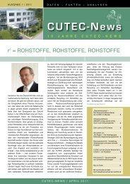 CUTEC-News - CUTEC-Institut GmbH