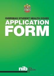 UAE OSHC Application Form - nib