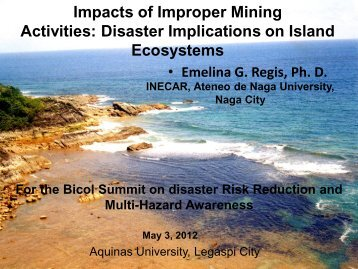 Impacts of Improper Mining Activities: Disaster Implications on Island ...