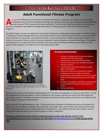 Absolute strength performance training - Buffalo Athletics