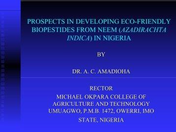 (azadirachta indica\) in nigeria
