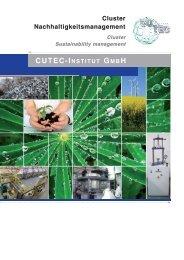 Cluster nachhaltigkeitsmanagement - CUTEC-Institut GmbH