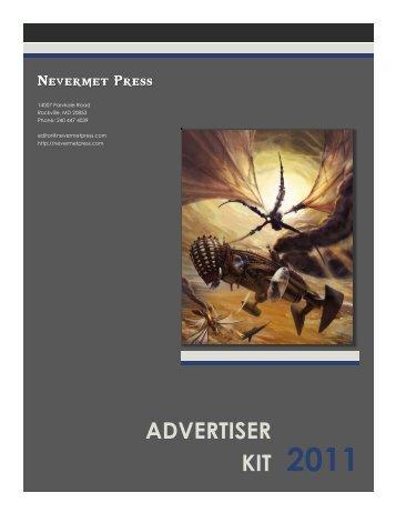 advertiser kit 2011 - Nevermet Press