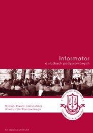 Informator dla kandydatów na studia podyplomowe