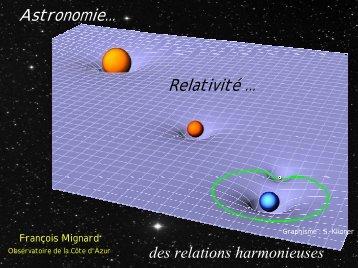Astronomie et relativité : un couple très solide