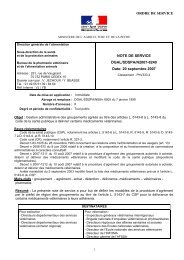 Gestion administrative des groupements agréés, note de service 2007