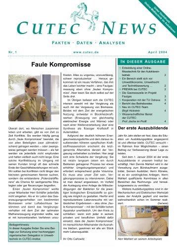 Faule Kompromisse - CUTEC-Institut GmbH