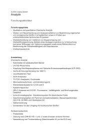 Analytik - CUTEC-Institut GmbH