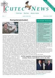 """Internationaler Know-How-Transfer"": Gastwissenschaftler bei CUTEC"