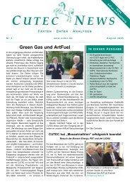 Green Gas und ArtFuel - CUTEC-Institut GmbH