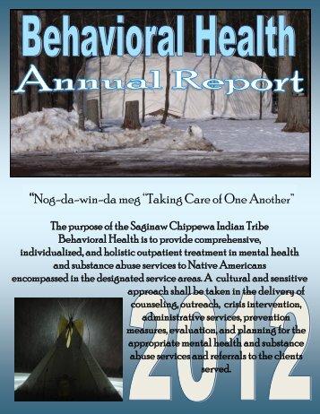 2013 Annual Report - Saginaw Chippewa Indian Tribe of Michigan