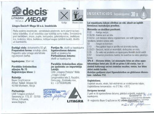 Litagra Decis Mega 50 e.Å«.; 3.klase; 4 ml - VAAD