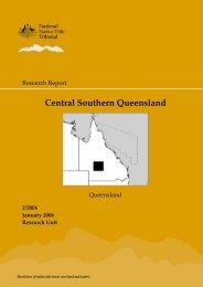 Central Southern Queensland Region - National Native Title Tribunal