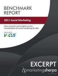 2011 Social Marketing Benchmark Report - MarketingSherpa