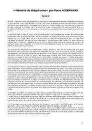 CHRONIQUE ACKERMANN Pierre 3 - Malgré-Nous