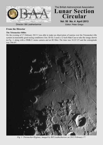 Vol 50, No 4, April 2013 - BAA Lunar Section