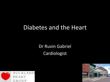 The heart in patients with diabetes - Auckland Heart Group