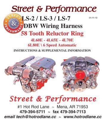 ls 1 wiring harness street performance ls 2 ls 3 ls 7 dbwwiring harness street