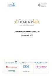 Leistungsbilanz des E-Finance Lab für das Jahr 2011