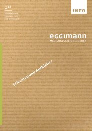 INFO 1-13 | Druckerei Eggimann Münsingen, Bern - Eggimann+Cie