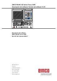 EMCO WinNC GE Series Fanuc 0-MC Descripción del software ...