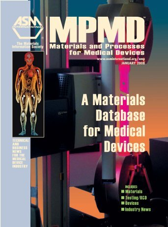 A Materials Database for Medical Devices