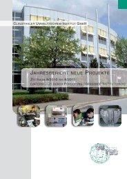 JAHRESBERICHT NEUE PROJEKTE - CUTEC-Institut GmbH