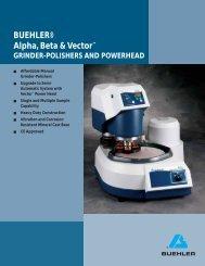 BUEHLER® Alpha, Beta & Vector™ GRINDER ... - BUEHLER GmbH